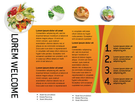 Vegetarian Food Brochure Template, Inner Page, 02582, Food & Beverage — PoweredTemplate.com