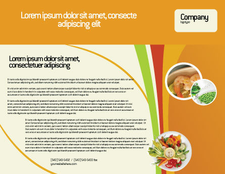 Vegetarian Food Brochure Template, Outer Page, 02582, Food & Beverage — PoweredTemplate.com
