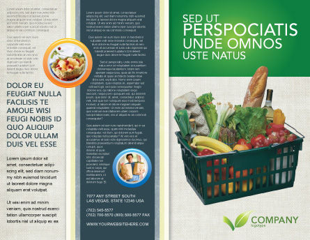 Market Basket Brochure Template, Outer Page, 02583, Careers/Industry — PoweredTemplate.com