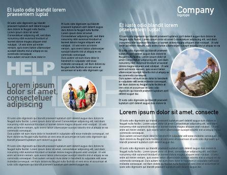 Help Brochure Template, Inner Page, 02584, Religious/Spiritual — PoweredTemplate.com