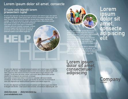 Help Brochure Template, Outer Page, 02584, Religious/Spiritual — PoweredTemplate.com