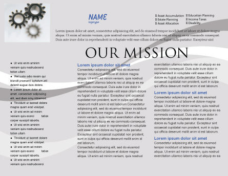 Gears Brochure Template, Inner Page, 02605, Utilities/Industrial — PoweredTemplate.com