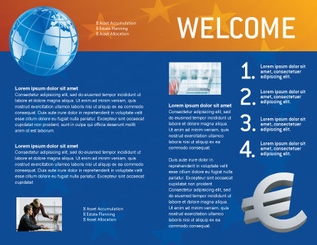 European Union Brochure Template Inner Page