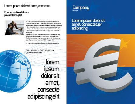 European Union Brochure Template Outer Page