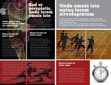 Running Man Brochure Template, Inner Page, 02660, Sports — PoweredTemplate.com
