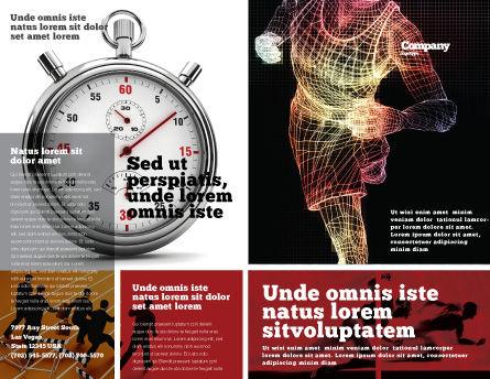 Running Man Brochure Template, Outer Page, 02660, Sports — PoweredTemplate.com