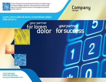 Touchpad Brochure Template, Outer Page, 02667, Telecommunication — PoweredTemplate.com