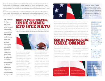 Mexico and USA Brochure Template, Inner Page, 02668, Flags/International — PoweredTemplate.com