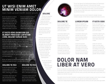 Moon Brochure Template, Inner Page, 02670, Nature & Environment — PoweredTemplate.com