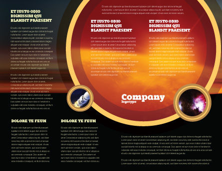 Human and Space Brochure Template, Inner Page, 02671, Technology, Science & Computers — PoweredTemplate.com