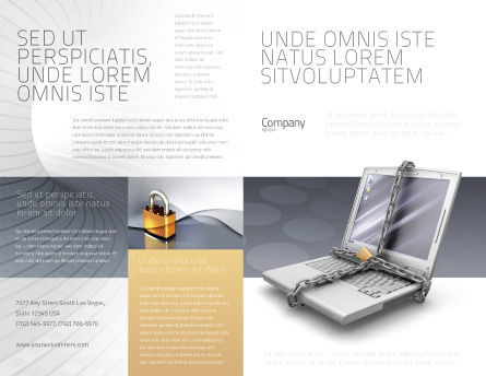 Information Security Brochure Template, Outer Page, 02673, Technology, Science & Computers — PoweredTemplate.com