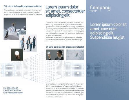 Data Flow Brochure Template, Outer Page, 02678, Telecommunication — PoweredTemplate.com