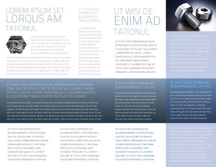 Screw-Nut and Bolt Brochure Template, Inner Page, 02703, Utilities/Industrial — PoweredTemplate.com