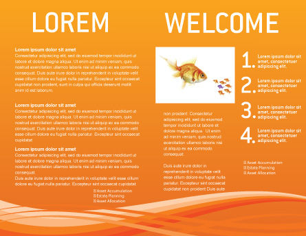 Goldfish Brochure Template, Inner Page, 02710, Agriculture and Animals — PoweredTemplate.com