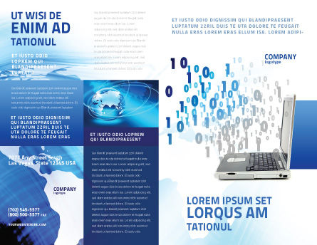 Digits From Laptop Brochure Template Outer Page