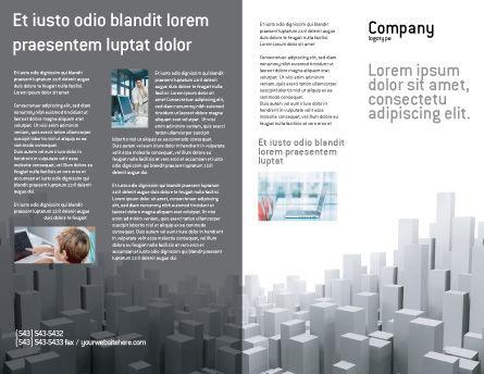Megalopolis Brochure Template, Outer Page, 02726, Construction — PoweredTemplate.com