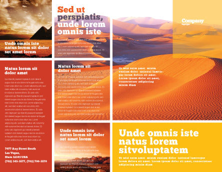Red Desert Brochure Template, Outer Page, 02728, Nature & Environment — PoweredTemplate.com