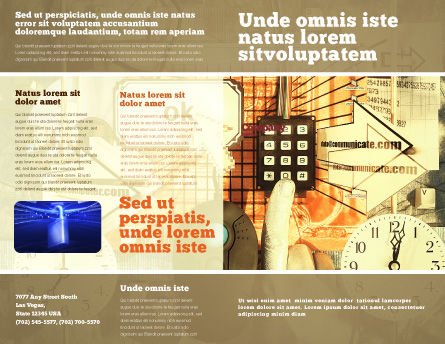 Computer Universe Brochure Template Outer Page