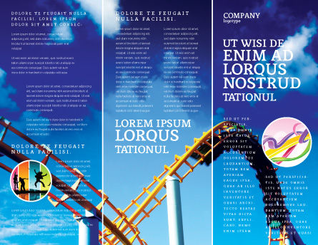 Roller Coaster Brochure Template Design And Layout Download Now - Fun brochure templates