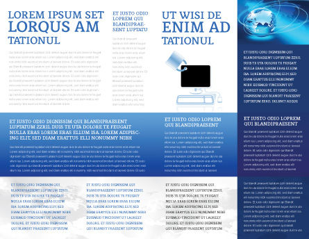Computer Shield Software Brochure Template Inner Page