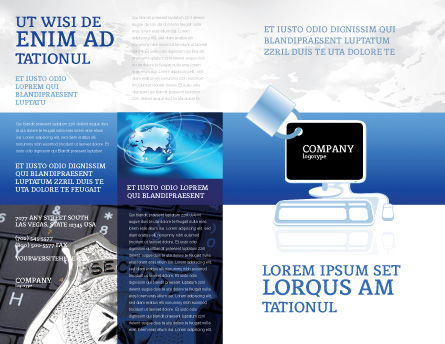 Computer Shield Software Brochure Template Outer Page