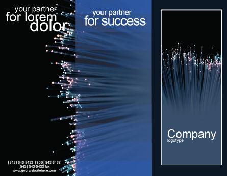 Optic Fiber Brochure Template, Outer Page, 02753, Telecommunication — PoweredTemplate.com
