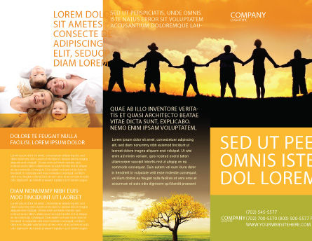 Family Brochure Template Outer Page