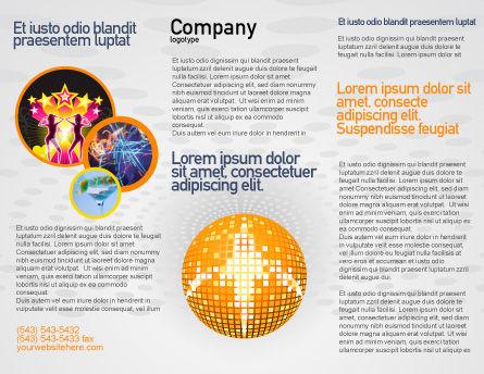 Disco Ball Brochure Template, Outer Page, 02785, Art & Entertainment — PoweredTemplate.com