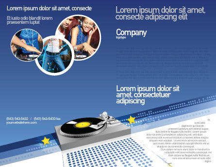 Party DeeJay Brochure Template, Outer Page, 02786, Art & Entertainment — PoweredTemplate.com