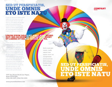 Clown Brochure Template, Outer Page, 02801, Holiday/Special Occasion — PoweredTemplate.com