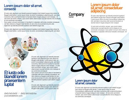 Atom Brochure Template, Outer Page, 02803, Education & Training — PoweredTemplate.com