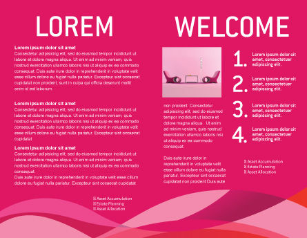 Modern Interior Design Brochure Template, Inner Page, 02808, Construction — PoweredTemplate.com