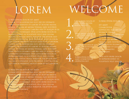 Thanksgiving Day Brochure Template, Inner Page, 02819, Holiday/Special Occasion — PoweredTemplate.com