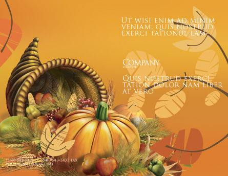 Thanksgiving Day Brochure Template, Outer Page, 02819, Holiday/Special Occasion — PoweredTemplate.com