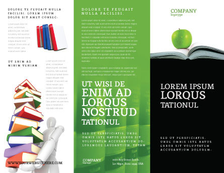 Book And Apple Brochure Template Outer Page