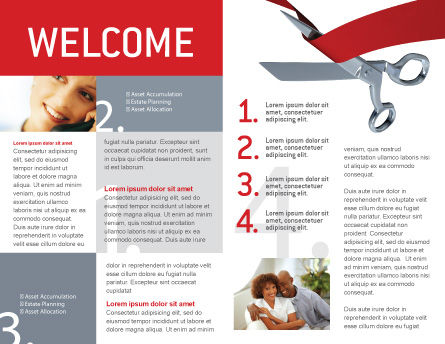 Cutting Red Tape Brochure Template, Inner Page, 02829, Holiday/Special Occasion — PoweredTemplate.com