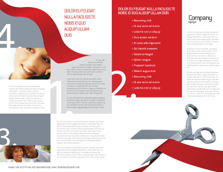 Cutting Red Tape Brochure Template, Outer Page, 02829, Holiday/Special Occasion — PoweredTemplate.com
