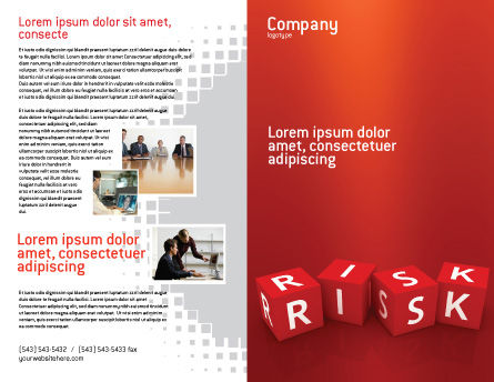 Red Risk Cubes Brochure Template Outer Page