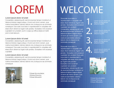 Pulse Brochure Template, Inner Page, 02839, Medical — PoweredTemplate.com