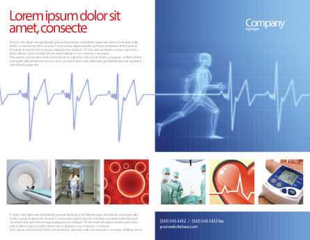 Pulse Brochure Template, Outer Page, 02839, Medical — PoweredTemplate.com