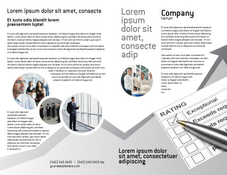 Rating Brochure Template, Outer Page, 02840, Education & Training — PoweredTemplate.com