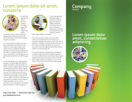 Books Brochure Template, Outer Page, 02844, Education & Training — PoweredTemplate.com
