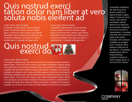 Santa Claus Coming Brochure Template, Inner Page, 02845, Holiday/Special Occasion — PoweredTemplate.com