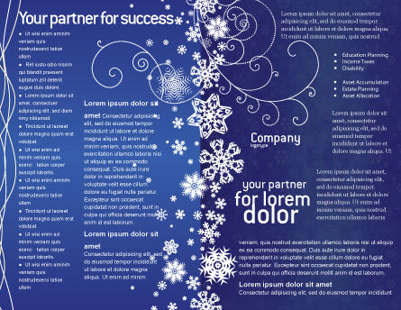 Snowflakes Brochure Template, Inner Page, 02846, Holiday/Special Occasion — PoweredTemplate.com