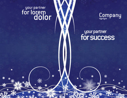 Snowflakes Brochure Template, Outer Page, 02846, Holiday/Special Occasion — PoweredTemplate.com