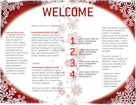 Christmas Theme Brochure Template, Inner Page, 02848, Holiday/Special Occasion — PoweredTemplate.com