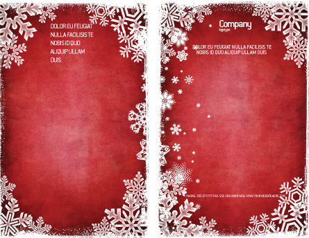Christmas Theme Brochure Template Outer Page