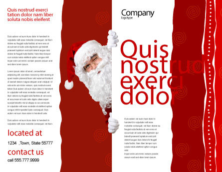 Santa Around the Corner Brochure Template, Outer Page, 02849, Holiday/Special Occasion — PoweredTemplate.com