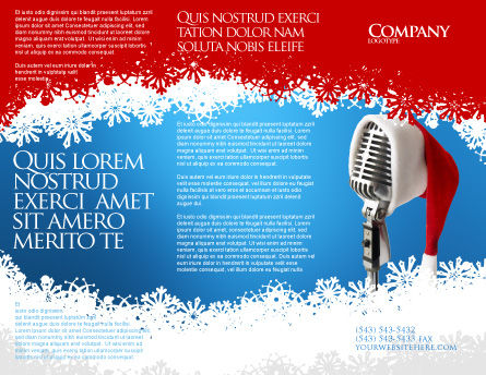 Christmas Songs Brochure Template, Outer Page, 02853, Holiday/Special Occasion — PoweredTemplate.com