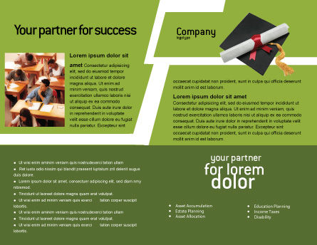 Certificate of Degree Brochure Template Inner Page
